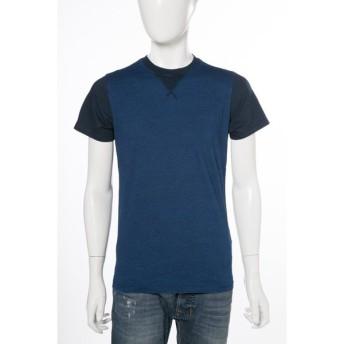 ディーゼル DIESEL Tシャツ 半袖 丸首 T-ALCOR MAGLIETTA メンズ 00SN1K 0HAJP ブルー
