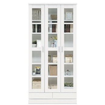 フリーボード 本棚 書棚 完成品 キャビネット 幅90cm 人気 日本製 ホワイト レトロ