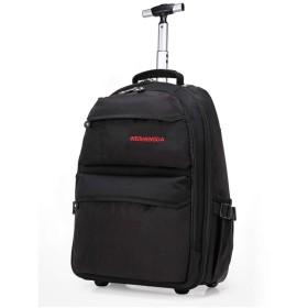 ZHANGQIANG スーツケース トラベルトロリーケース 5都市キャビン承認トロリーバッグ ブラック 351950cm ブラック