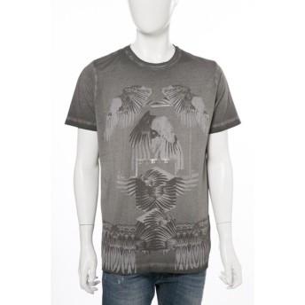 ディーゼル DIESEL Tシャツ 半袖 丸首 T-JOE-HO MAGLIETTA メンズ 00STE2 0WAER ブラック