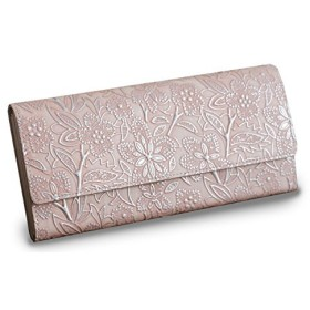 ARUKAN クレア パールフラワーのギャルソン長財布(ピンク/pink)