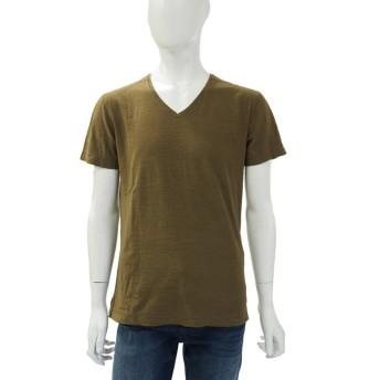 ディーゼル DIESEL Tシャツ 半袖 Vネック T-TOSSIK MAGLIETTA メンズ 00S8I3 00KDY カーキ