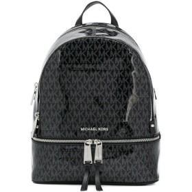 マイケルコース バックパック Michael Michael Kors 30H8SEZB2V Rhea Medium Glossy Signature Backpack リア シグニチャー グロッシー バックパック (ブラック)