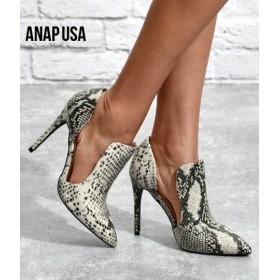 【セール開催中】ANAP(アナップ)サイドオープンデザインパンプス
