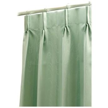 高機能 デザインカーテン (遮光1級/防汚/ウォッシャブル/防炎) 幅150×丈230 1枚 グリーン 日本製 FD52376