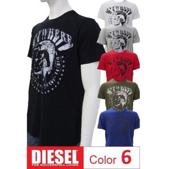 ディーゼル DIESEL Tシャツ 半袖 丸首 メンズ 00SC4U 0091B