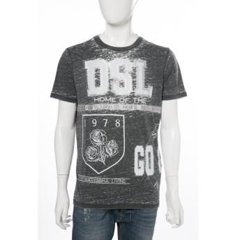 ディーゼル DIESEL Tシャツ 半袖 丸首 T-JOE-GO MAGLIETTA メンズ 00SS45 0PAJX ブラック
