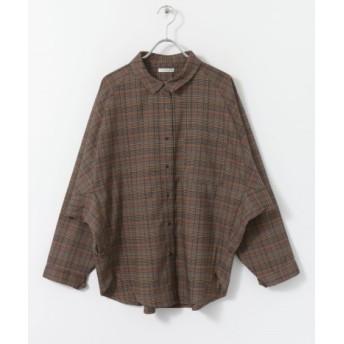 ITEMS(アイテムズ) トップス シャツ・ブラウス ルーズチェックシャツ【送料無料】