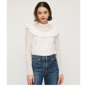 【SLY:トップス】CAPELET FRILL LACE L/S TOPS