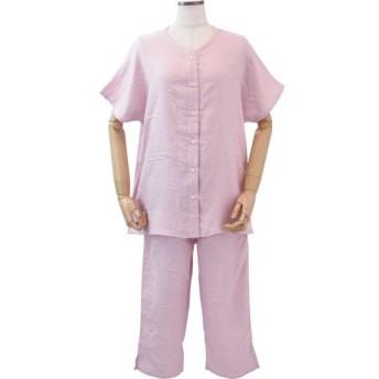内野(UCHINO) レディスパジャマ マシュマロガーゼ 快眠パジャマ 軽くてやわらかい 半袖 S ピンク 3重ガーゼ 吸水