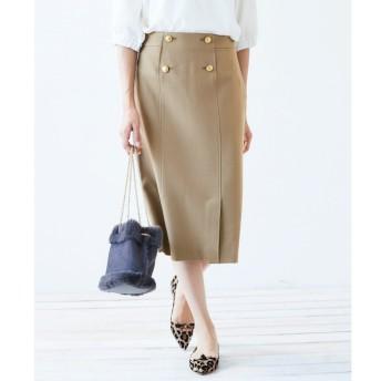 【ペルルペッシュ/Perle Peche】 メタルボタンタイトスカート