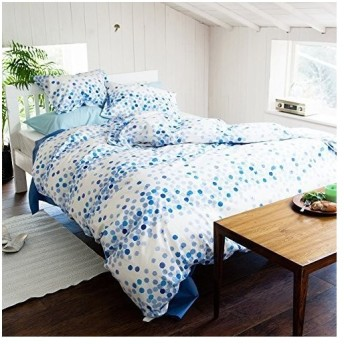 Fab the Home 掛けふとんカバー ホップス/ブルー 150x210cm ホップス FH121165-300