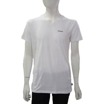 ディーゼル DIESEL Tシャツ 半袖 Vネック UMTEE-MICHAEL メンズ 00SHGU 0QAHF ホワイト