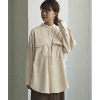 ITEMS(アイテムズ) トップス シャツ・ブラウス ウエストマークコーディロイシャツ【送料無料】