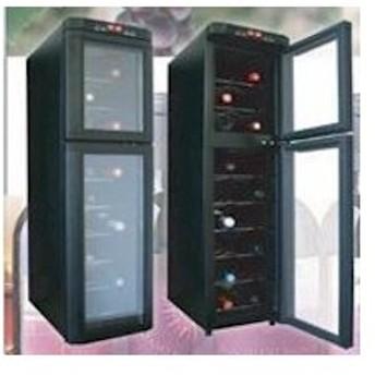 無音無振動UVカットガラス本格18本収納デジタル式2ドアワインセラー dprs