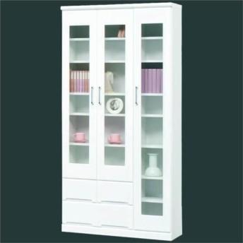 本棚 完成品 書棚 鏡面 幅90cm SALE セール(開梱設置無料)