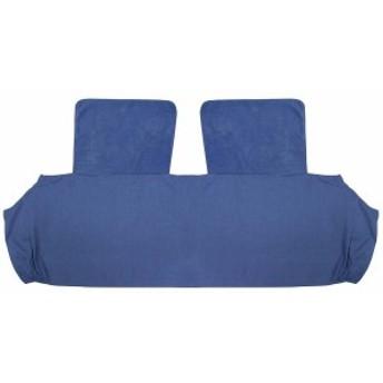 (首周りあったか! ) フリース肩当て付き 掛け布団の衿カバー (シングル用) ブルー