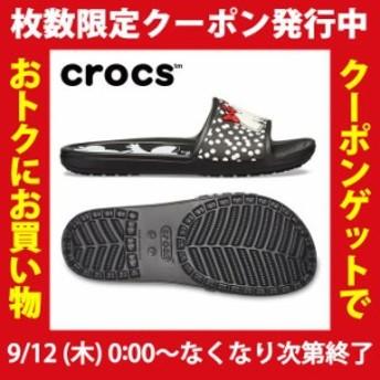 クロックス シャワーサンダル レディース スローン ミニー ドット スライド ウィメン 205607-066 crocs od