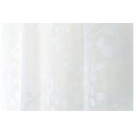 Arie(アーリエ) ボイルレースカーテン フロッキーコダチ 150×223cm ホワイト