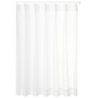 ユニベール ミラーレースカーテン ホワイト 幅100×丈103cm 2枚組 HAZ-L0002