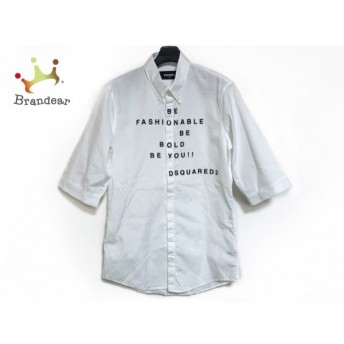 ディースクエアード DSQUARED2 半袖シャツ サイズ46 S メンズ 美品 アイボリー×黒 新着 20190914