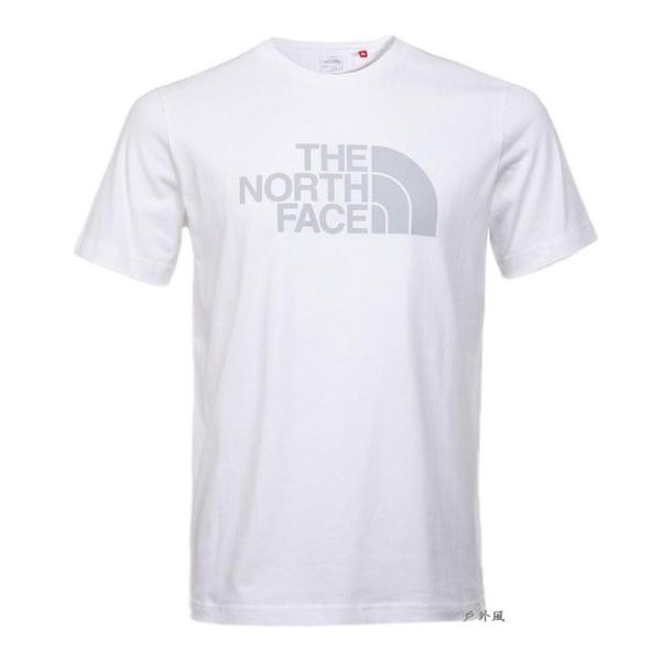 The North Face男 LOGO短袖T恤 白
