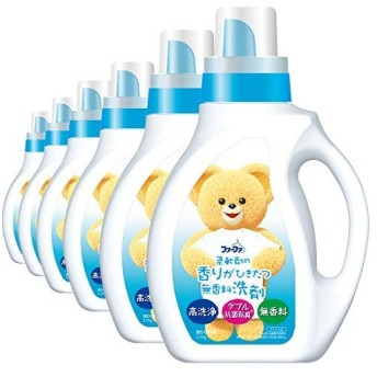 【ケース販売】 ファーファ 洗濯洗剤 液体 香りひきたつ無香料 本体 1.0kg×12個