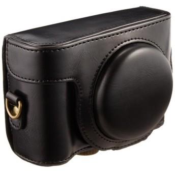 和湘堂 SONY DSC-HX50V,DSC-HX60V デジタルカメラ用 合成革ケース 3色 「513-0013」 (ブラック)