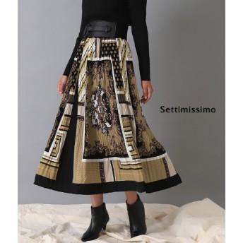 ANAP(アナップ)スカーフ柄ケシプリーツスカート