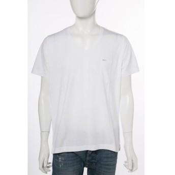 ディーゼル DIESEL Tシャツ 半袖 Vネック T-SATURNO MAGLIETTA メンズ 00SN1H 0NAKQ ホワイト