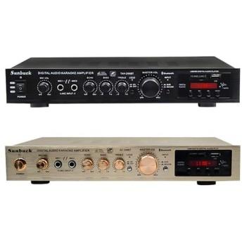 200W + 200W 220V FM SD USBリモートコントロール5チャンネルBluetooth 4.1 ステレオデジタルAVサラウンドアンプカラオケ ホームシアター (ブラック)
