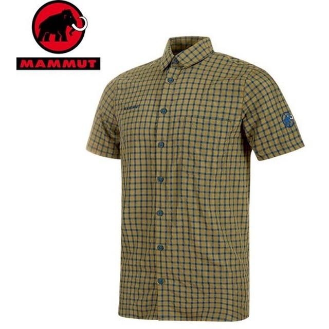 MAMMUT マムート Lenni Shirt Men メンズ 半袖シャツ 2019 SS (olive-poseidon):1015-00300