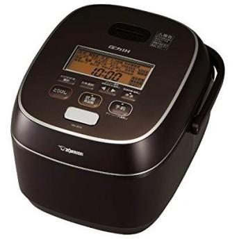 象印 圧力IH炊飯器 極め炊き 鉄器コート プラチナ厚釜 ブラウン 1升 NW-JB18-TA