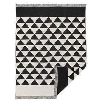 IKEA イケア ひざ掛け ブランケット ブラック ナチュラル ブラック ホワイト