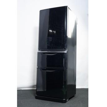 三菱 3ドア冷蔵庫 335L MR-C34X-B 2014年製 【中古】【らくらく家財宅急便Dランク】