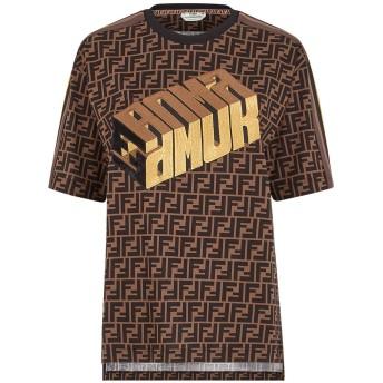 Fendi Fendi Roma Amor Tシャツ - ブラウン