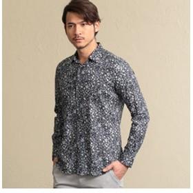 【EPOCA UOMO:トップス】フラワープリントシャツ