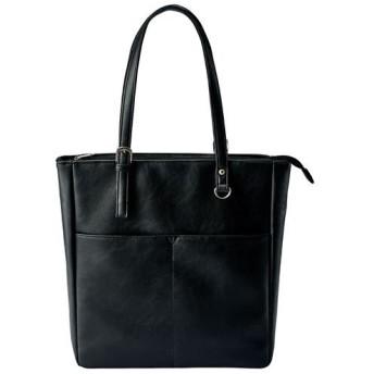 タテ型トートバッグ(A4対応) - セシール ■カラー:ブラック