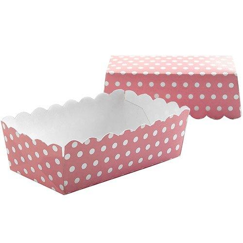 《IBILI》Sweet迷你長蛋糕紙模12入(粉點10cm)