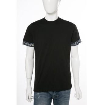 ディーゼル DIESEL Tシャツ 半袖 丸首 T-MARSHALL MAGLIETTA SING メンズ 00SK8R R091B ブラック