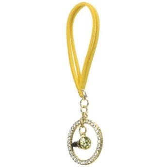 Innova Global Leather earphone jack series - Ring - Yellow KLRJK-YE