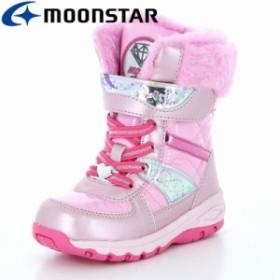 ≪セール≫ムーンスター 子供靴 キッズウィンターブーツ SG WPC57SP ピンク ガールズに向けたカジュアルウィンターブーツ