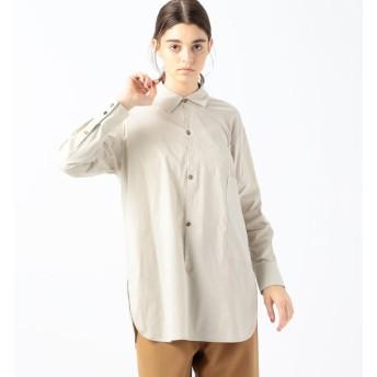 【トゥモローランド/TOMORROWLAND】 コットンストレッチブロード 1ポケットシャツ