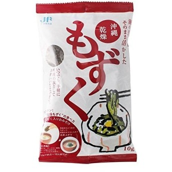 JF沖縄漁連 沖縄乾燥もずく 10g 簡単レシピ付 いつでも手軽に 料理の友として (10P)