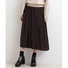 【MAJESTIC LEGON:スカート】ベルト付ギャザーマキシスカート