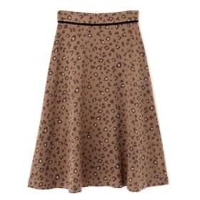 プロポーションボディドレッシング(PROPORTION BODY DRESSING)/フェミニンレオパードフレアスカート