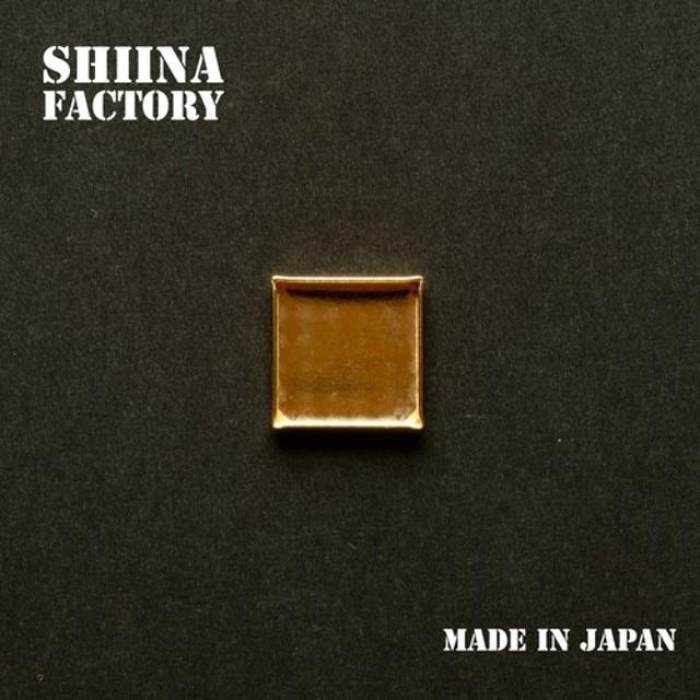 【3個】ミール皿 正方形 【約16mm】(日本製、真鍮、生地)