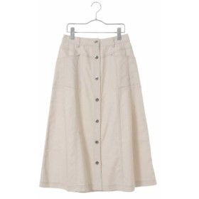 (HIROKO BIS/ヒロコビス)【洗濯機で洗える】デニムロングスカート/レディース ホワイト