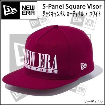 帽子 キャップ cap メンズ レディース ニューエラ NEW ERA 5-Panel Square Visor Duck Canvas カーディナル/カーディナル
