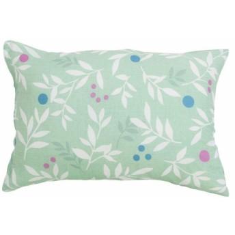 メリーナイト ピローケース グリーン 枕カバー/43×63cm イージーケア 枕カバー 「リーフ」 FF16104-53